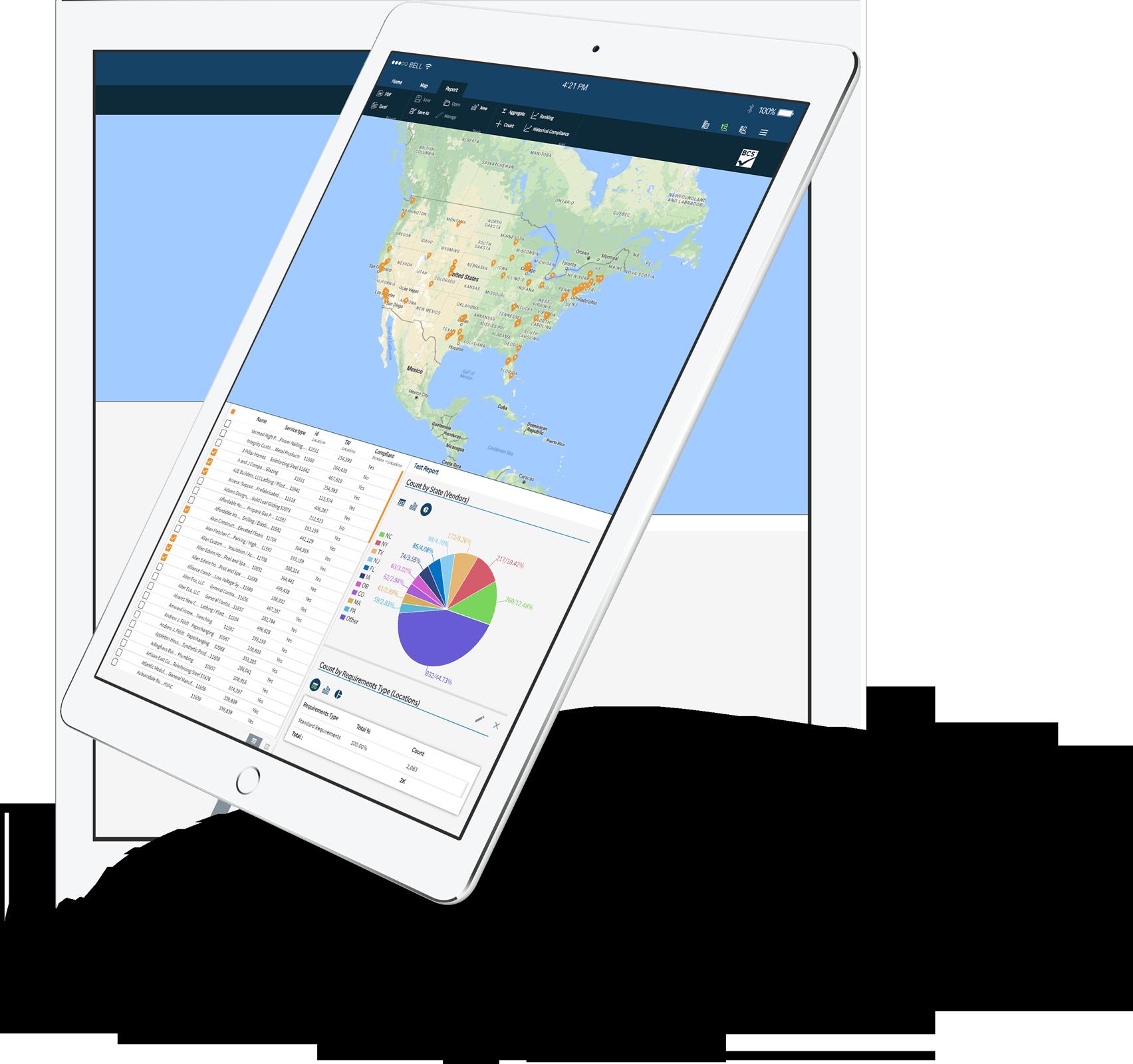 BCS App on an iPad