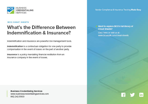 the Difference Between Indemnification & Insurance