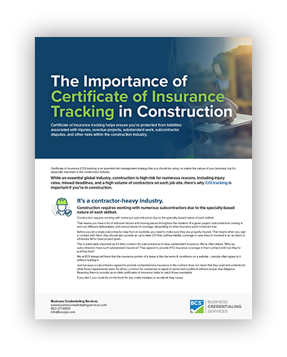 Construction COI Ebook
