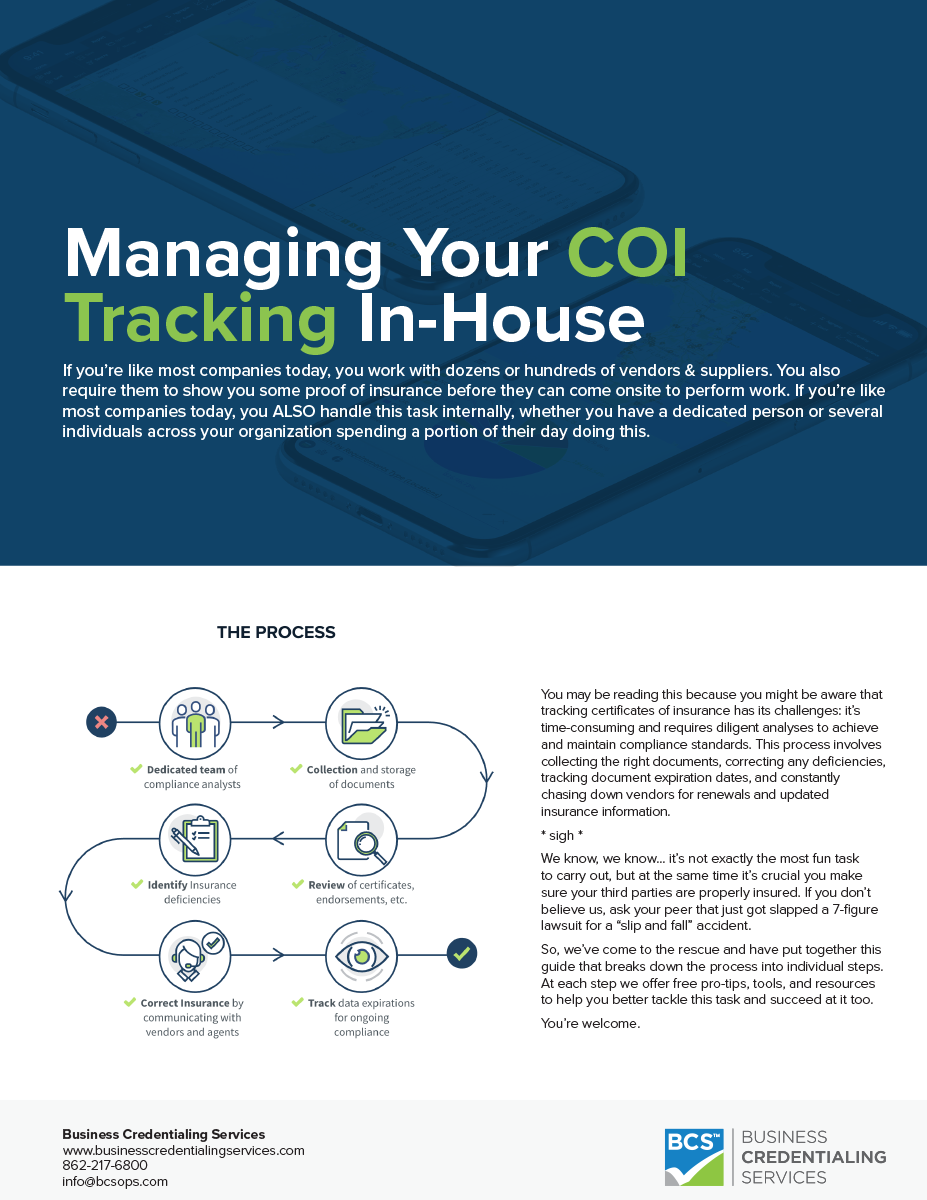 Managing Your COI Tracking In-House