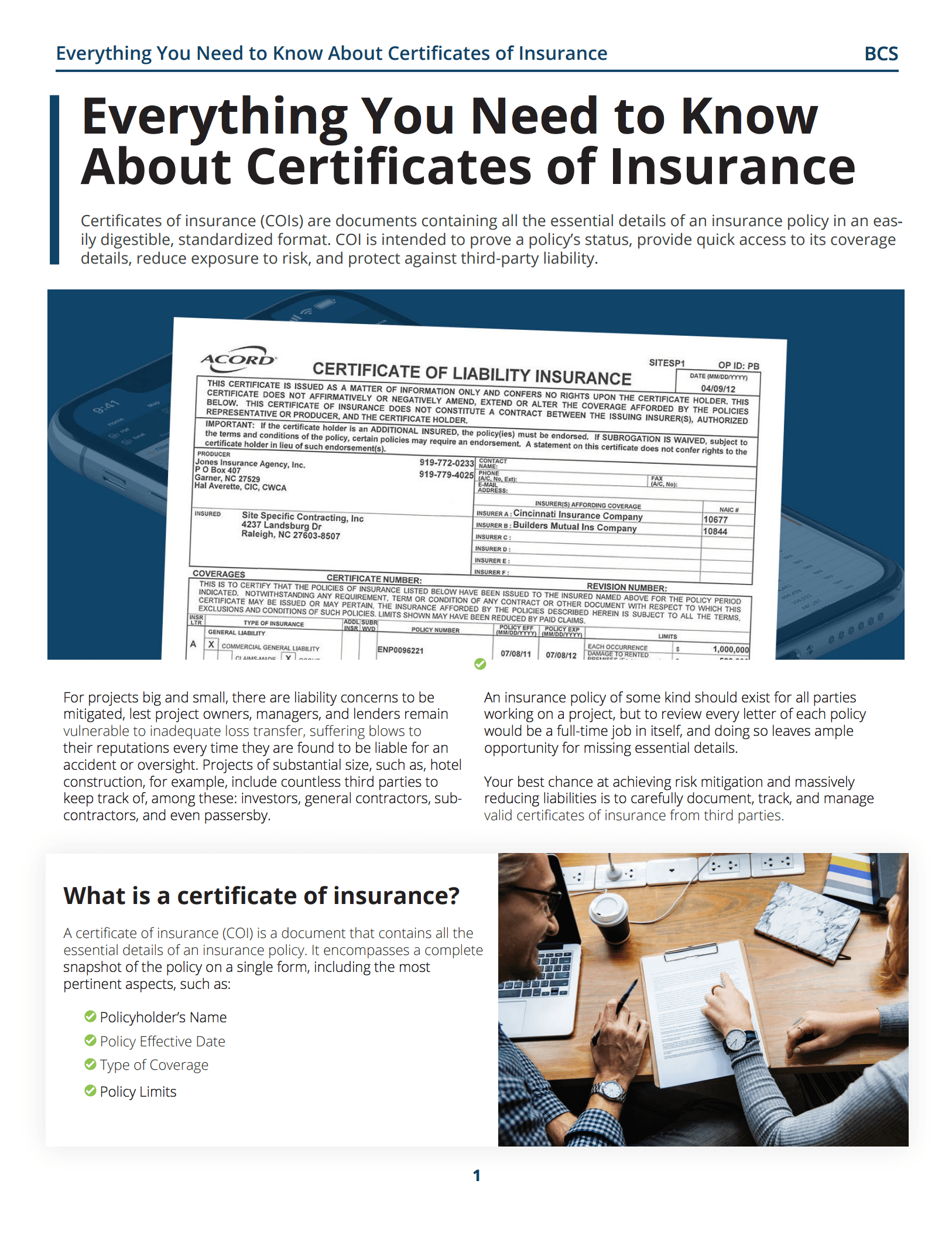 Everything You Need to Know About Certificates of Insurance