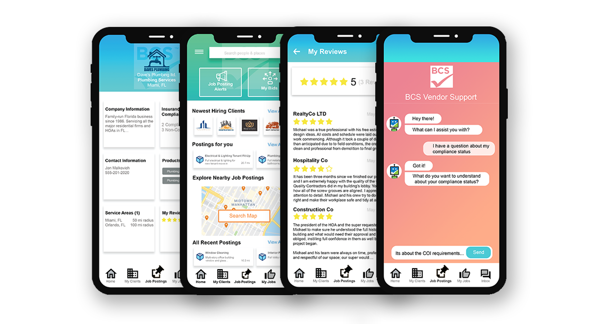 Multiple App screenshots