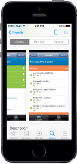 The certificates page of the Certus Mobile App for tracking certificates of insurance