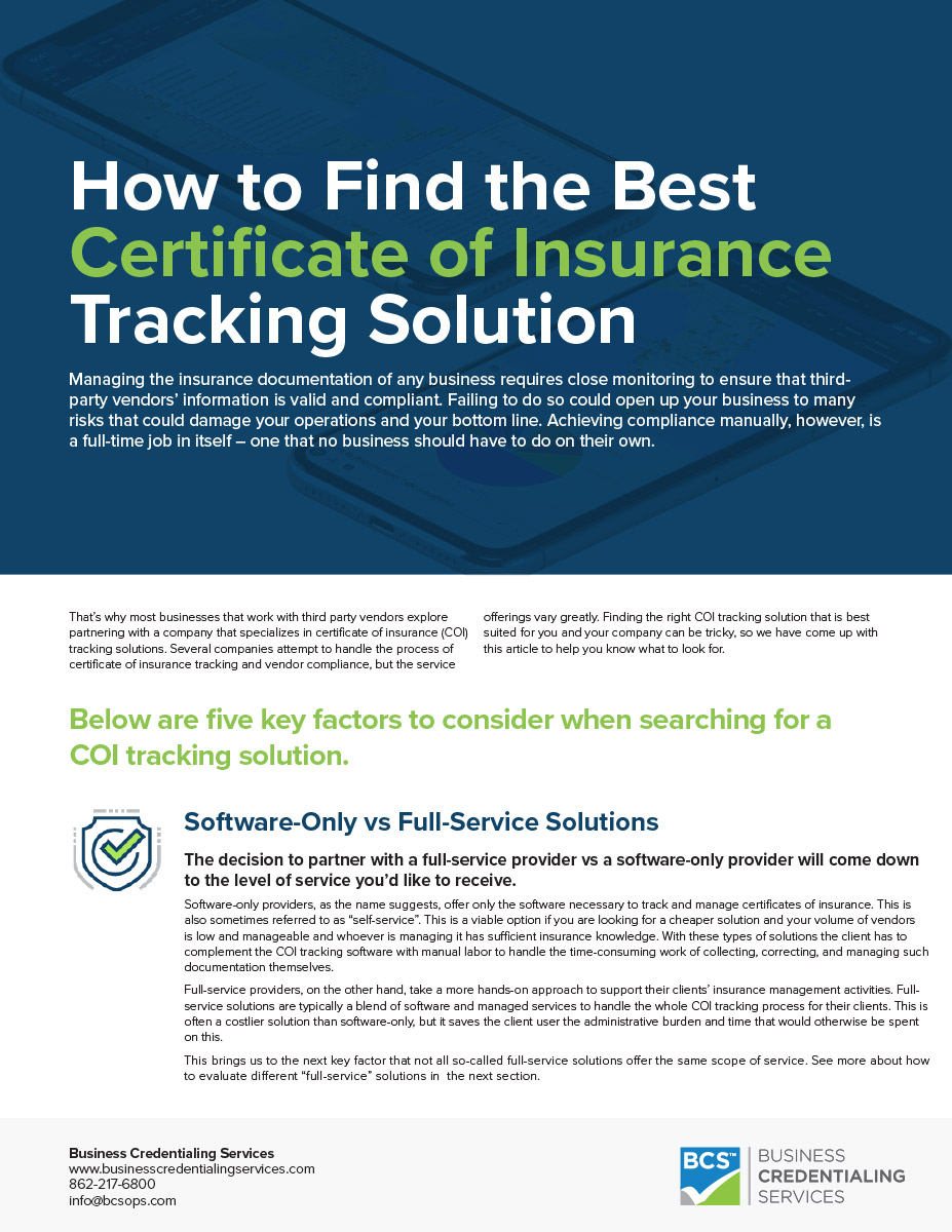 How to Find the Best Certificate of Insurance Tracking Solution