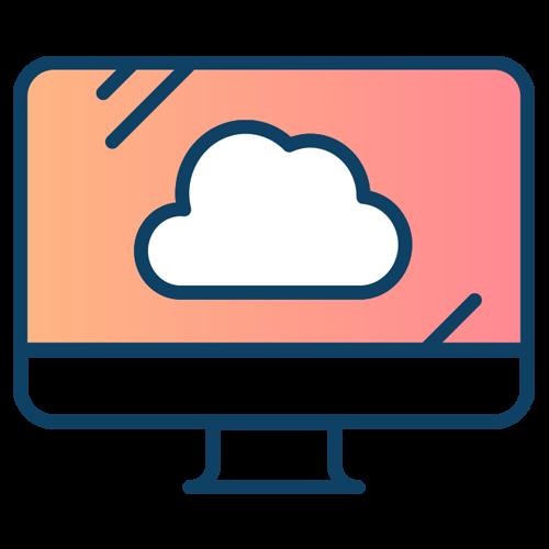 vector of cloud on computer screen
