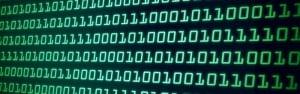 binary code on computer